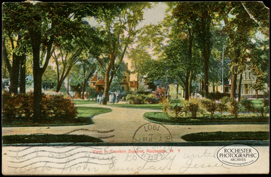 View in Franklin Square, c.1907
